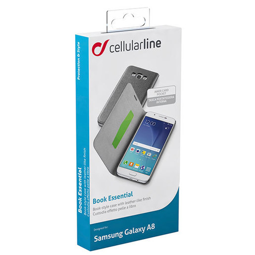 Cellular Line Book Essential per Samsung Galaxy A8 nera