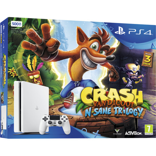 Image of Sony PS4 500GB E Chassis Slim + Crash Bandicoot N. Sane Trilogy 500GB