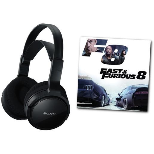 Sony MDR RF811RK + DVD Fast & Furious 8 (2017) Nero Circumaurale Padig