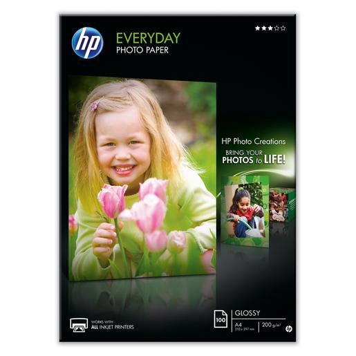 Image of HP Confezione da 100 fogli carta fotografica lucida Everyday A4/210 x