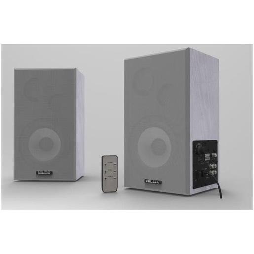 Nilox NXWB100 altoparlante 100 W Grigio Cablato
