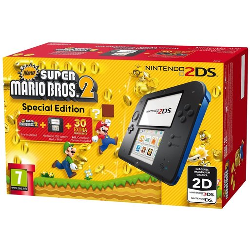 Image of Nintendo 2DS + Super Mario Bros 2