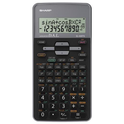 Image of Sharp EL-509TS calcolatrice Tasca Calcolatrice scientifica Nero, Grigi
