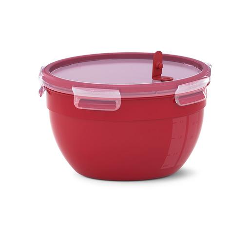 Image of EMSA Clip & Micro Contenitore Rotondo Microonde, Rosso, 2,6 L