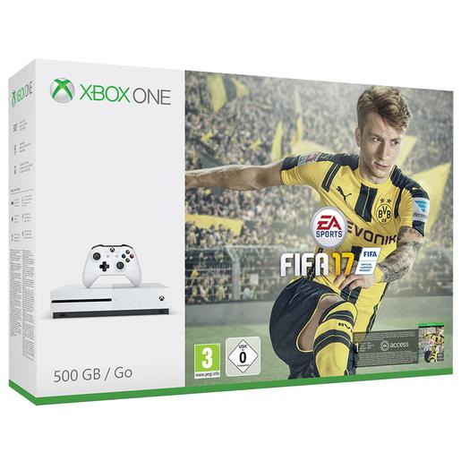 Image of Microsoft 500GB Xbox One S + FIFA 17