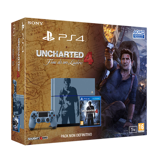 PlayStation 4 1 TB C chassis + Uncharted 4 edizione limitata