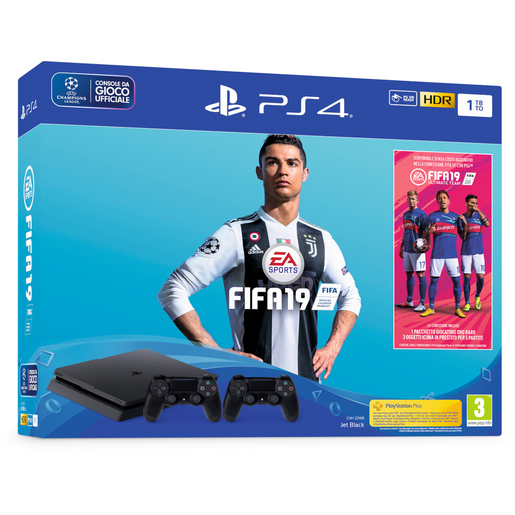 Image of Sony PlayStation 4 1TB + FIFA 19 + secondo DualShock 4