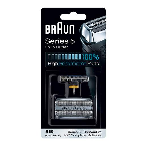Braun Testina Di Ricambio 51S Color Argento Compatibile Con I Rasoi