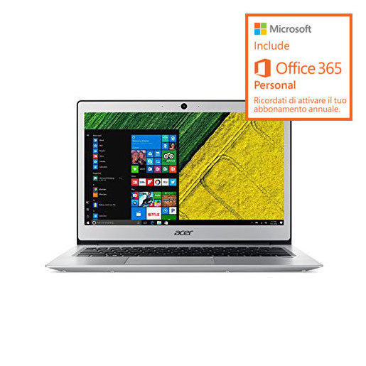 Image of Acer Swift 1 SF113-31-P2JX con Microsoft Office 365 incluso