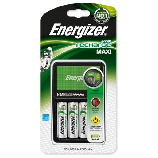 Image of Energizer carica batterie Accu Recharge Maxi + 4 AA da 2000 mAh