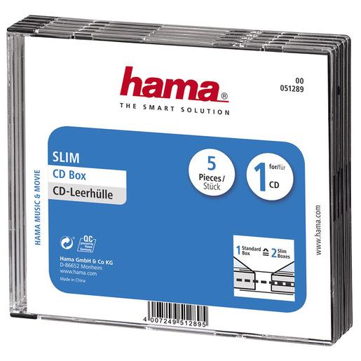 Image of Hama CD Slim Jewel Case 1 dischi Trasparente