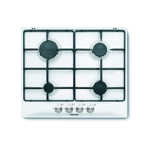 Image of Glem GT64WH piano cottura Bianco Incorporato Gas 4 Fornello(i)