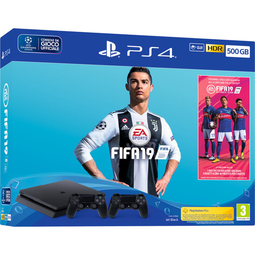 Image of Sony PlayStation 4 500GB chassis F + FIFA 19 + secondo DualShock 4