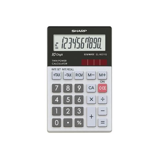 Sharp EL W211G Tasca Calc