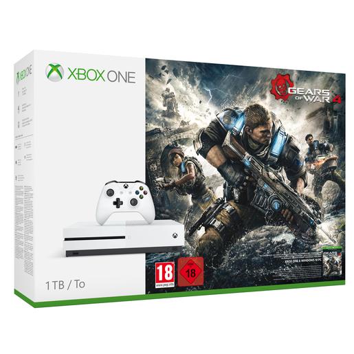 Image of Microsoft Xbox One S + Gears of War 4 1000GB Wi-Fi Bianco