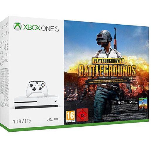 Image of Microsoft Xbox One S 1TB Bianco + Playerunknown's Battlegrounds