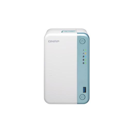 QNAP TS 251D J4005 Collegamento ethernet LAN Tower Bianco NAS