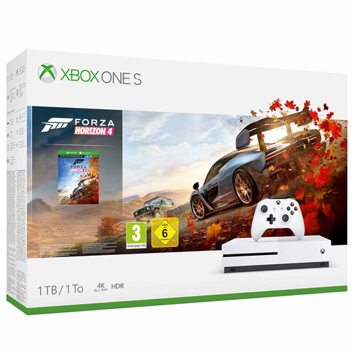 Image of Microsoft Xbox One S 1TB + Forza Horizon 4