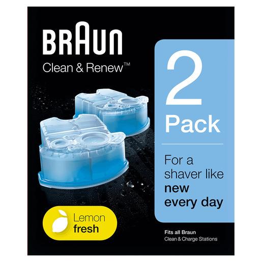 Braun Clean&Charge Cartucce Di Ricarica Per Rasoio Da Barba Elettrico,