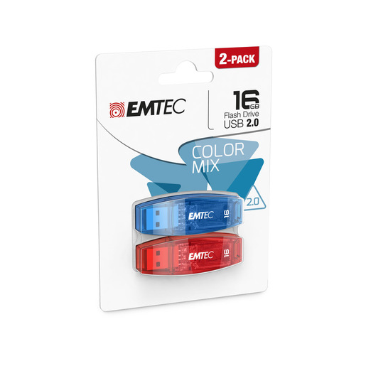 Emtec C410 unità flash USB 16 GB USB tipo A 2.0 Blu, Rosso