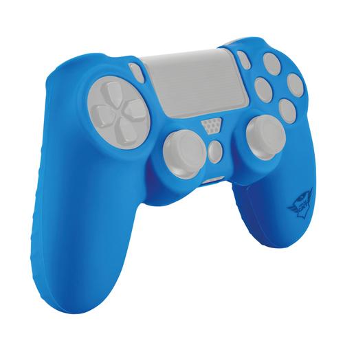 Trust 21213 Gamepad custodia in silicone blu per DualShock 4