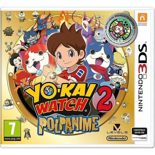 Image of        Yo-Kai Watch 2: Polpanime + medaglia (edizione speciale) - Nintendo 3D