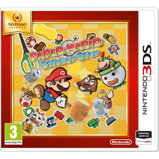 Image of The Paper Mario: Sticker Star, 3DS Selects
