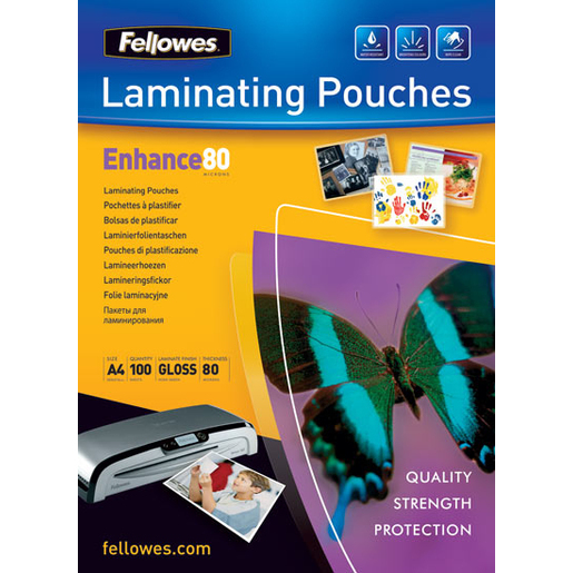 Image of Fellowes Glossy Pouches A3 25 pcs. 80mµ