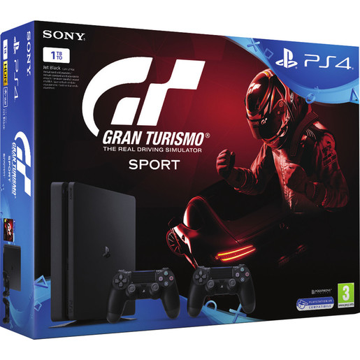 Sony Play Station 4 + GT Sport + 2° DualShock 4 1000GB Wi-Fi Nero