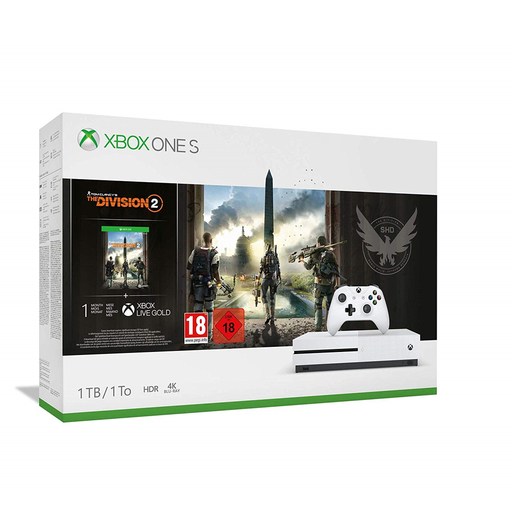 Image of Microsoft Xbox One S + Tom Clancy's The Division 2 Bianco 1000 GB Wi-F