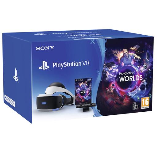 Sony PSVR MK4 + Camera + VR Worlds VCH Occhiali immersivi FPV Nero, Bi