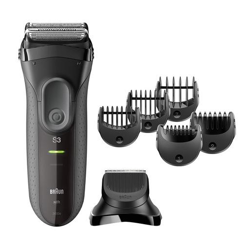 Braun Rasoio Series 3 Shave&Style 3000BT con testina del rifinitore e