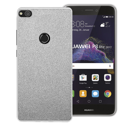 Image of Phonix Cover Glitter per Huawei P8 Lite (2017) / Honor 8 Lite - Argent