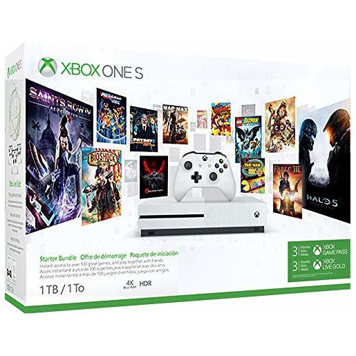 Image of Microsoft Xbox One S 1TB Bianco + 3 mesi Xbox Live Gold + 3 mesi Game