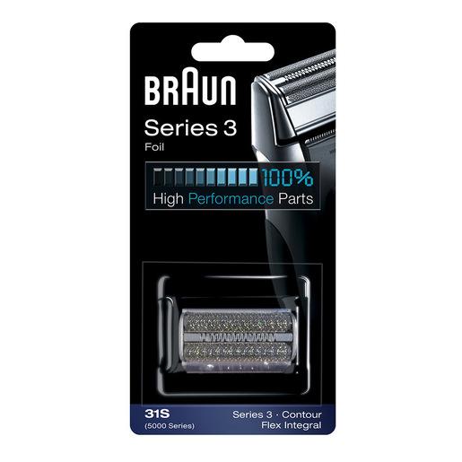 Braun Testina di ricambio 31S color argento Compatibile con i rasoi