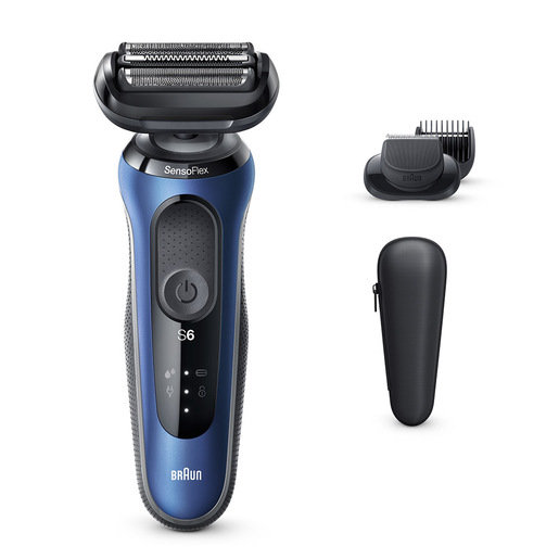 Braun Series 6 60 B1500s Rasoio Trimmer Blu