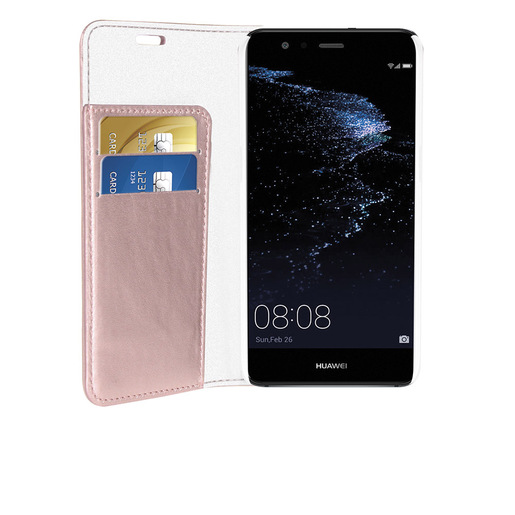 Image of Phonix Custodia a Libro in Ecopelle Sparkling per Huawei P10 Lite - Or