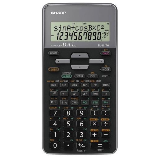 Image of Sharp EL-531TH calcolatrice Tasca Calcolatrice scientifica Nero, Grigi