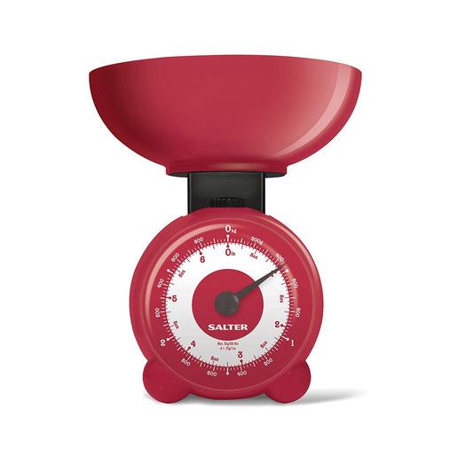 Image of Salter 139 RDDR Bilancia da cucina meccanica Rosso Superficie piana
