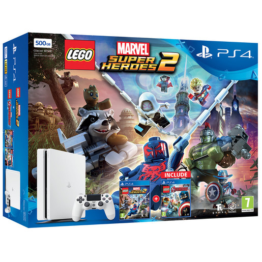 Image of Sony PS4 500GB Slim + Lego Marvel Super Heroes 2 + Lego Avengers 500GB
