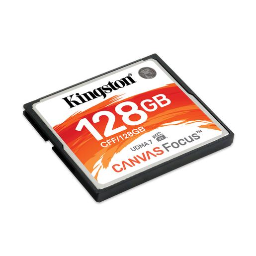 Image of Kingston Technology Canvas Focus memoria flash 128 GB CompactFlash