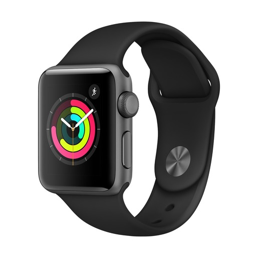 Image of Apple Watch Series 3 Cassa in alluminio grigio siderale con cinturino