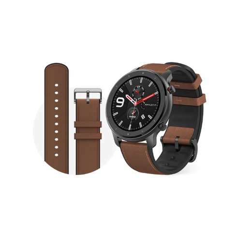 Image of Amazfit GTR 47mm smartwatch Alluminio, Marrone AMOLED 3,53 cm (1.39'')