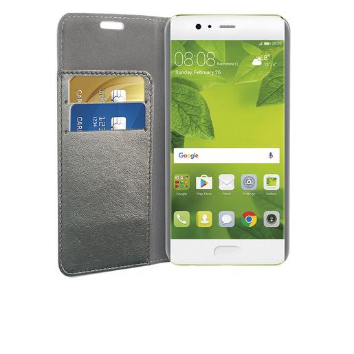 Image of Phonix Custodia a Libro in Ecopelle Sparkling per Huawei P10 - Grigio