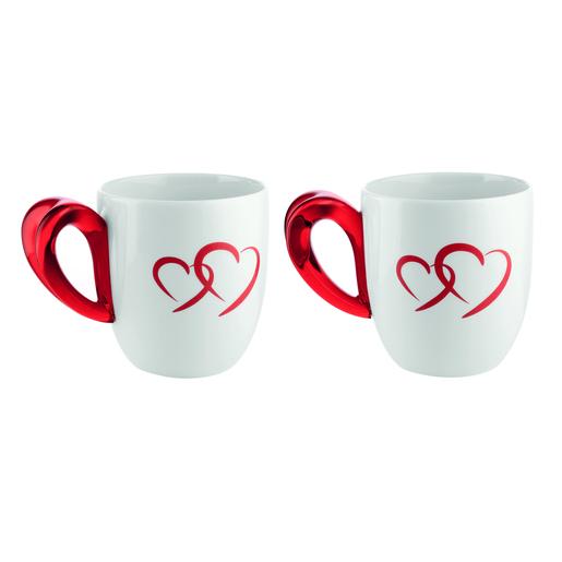 Fratelli Guzzini Love Rosso, Bianco Tè 2pezzo(i) bicchiere e tazza