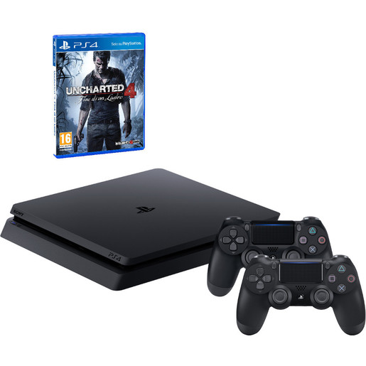 Image of Sony PS4 1TB chassis D + Uncharted 4 + secondo DualShock 4 v2